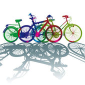 Silhouette color dot bike — Stock Photo