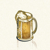 Golden andle beer — Stock Photo