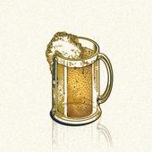 Golden andle beer — Stock Photo