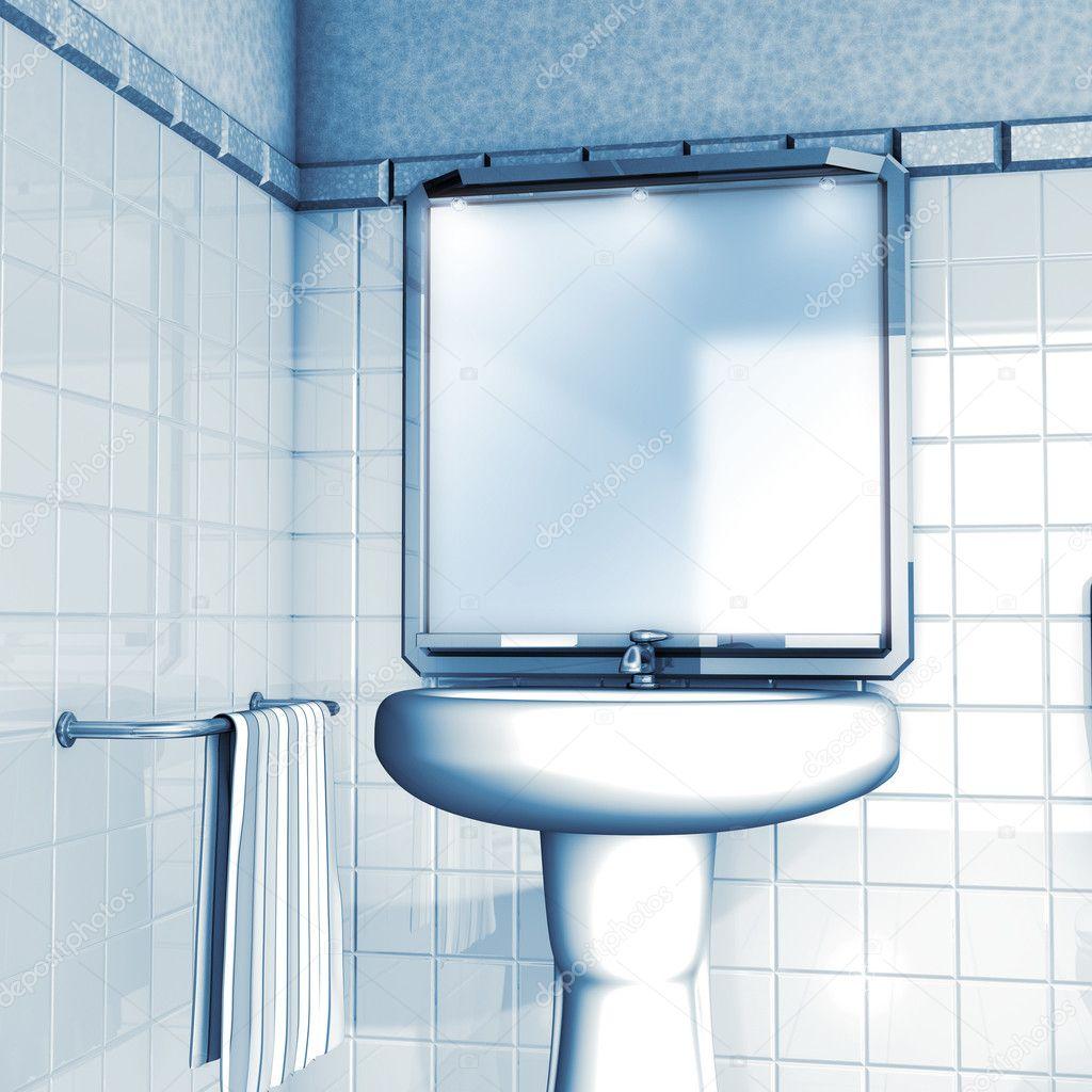 Bathroom Mirror And Sink Stock Photo Imagebos 4876905