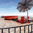 Stock Photo: Terrace sunshade