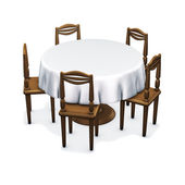 Table classic circle — Stock Photo