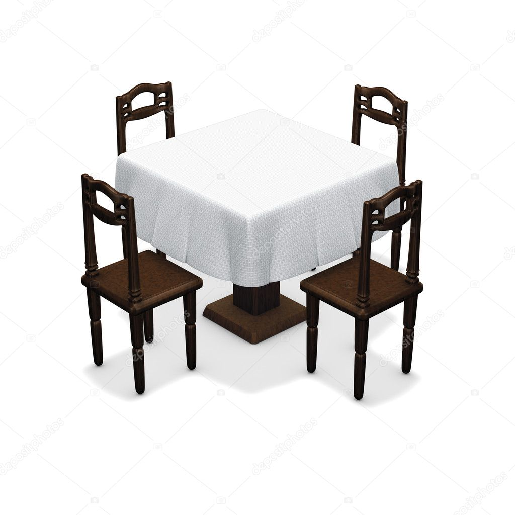 Simple dining table stock photo imagebos 4902004 for Simple html table