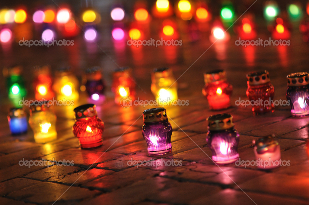Candles on the street — Stock Photo #5109470