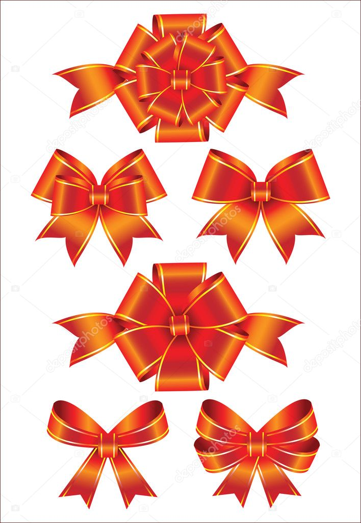 Set of bows  — Stock Vector #4955622