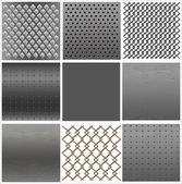 Set texture of iron — Stock Vector