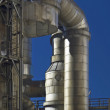 Pipelines in a chemical plant — Stock Photo
