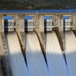 Gates open of dam — Stock Photo #4893519