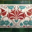 Art nouveau tile — Stock Photo