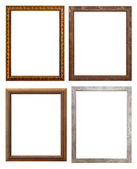 Set of wooden picture frame, isolated with clipping path — Stock Photo
