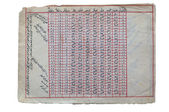 Livre ancien avec des tables de l'astronomie arabe — Photo
