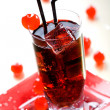 Stock Photo: Red drink