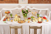 Easter table arrangement — Stock Photo