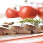 鲱鱼片 — 图库照片