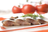 Herring slices — Stock Photo