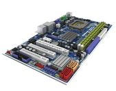 Motherboard, processor, memory, computer chips, circuits, — Stock Photo