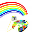 Rainbow palette of colors — Stock Photo