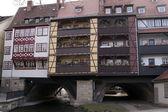 Krämerbrücke Merchants bridge Erfurt Thuringia Germany — Stock Photo
