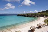 Tropical beach in Caribbean — Stock Photo