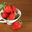 Strawberry in cup — Stock Photo