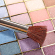 Stock Photo: Brush in mineral make-up