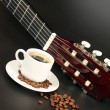 Coffe and guitar — Stock fotografie #4884962