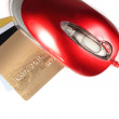 Computer mouse and Credit Card Payment. E-commerce — Stock Photo
