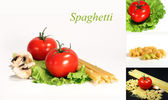 Pasta and tomato — Stock Photo