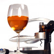 Wine and corkscrew — Stock Photo