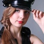 Женщина полицейский — Stockfoto