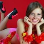 Aloha Bikini Girl — Stock Photo