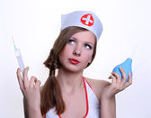 The sexy nurse — Stock Photo