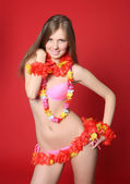 Aloha Bikini Girl — Stock Photo