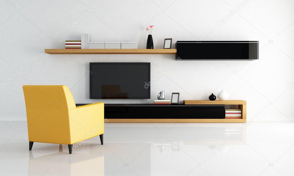 Modern Minimalist Lounge Stock Photo Archideaphoto