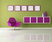 Gekleurde woonkamer — Stockfoto