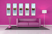 Pink lounge — Stock Photo