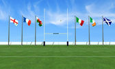 Rugby six nations — Stock Photo