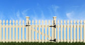 White wooden fence — Stock Photo