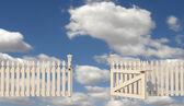 Openen poort naar het paradijs — Stockfoto