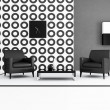 Black and white living room — Stock Photo