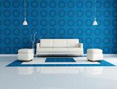 Blue living room — Stock Photo