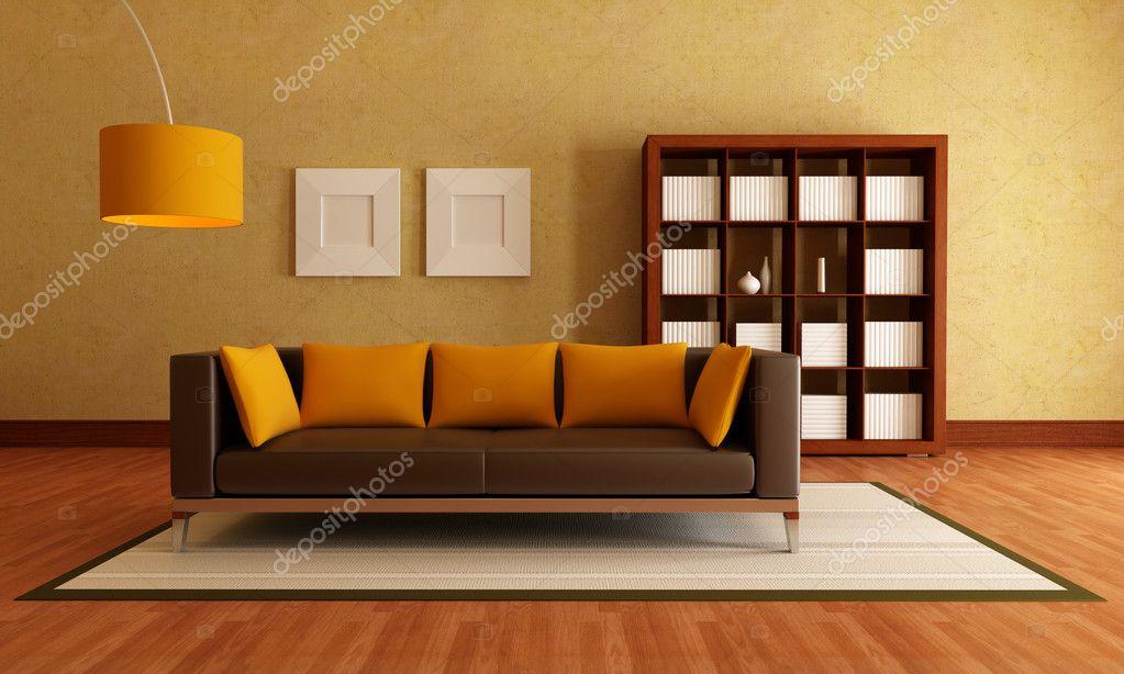 Moderne elegant woonkamer — Stockfoto © archideaphoto #4892582