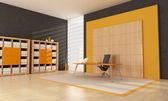 Orange office space — Stock Photo