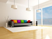 Modern colored living room — Stock Photo