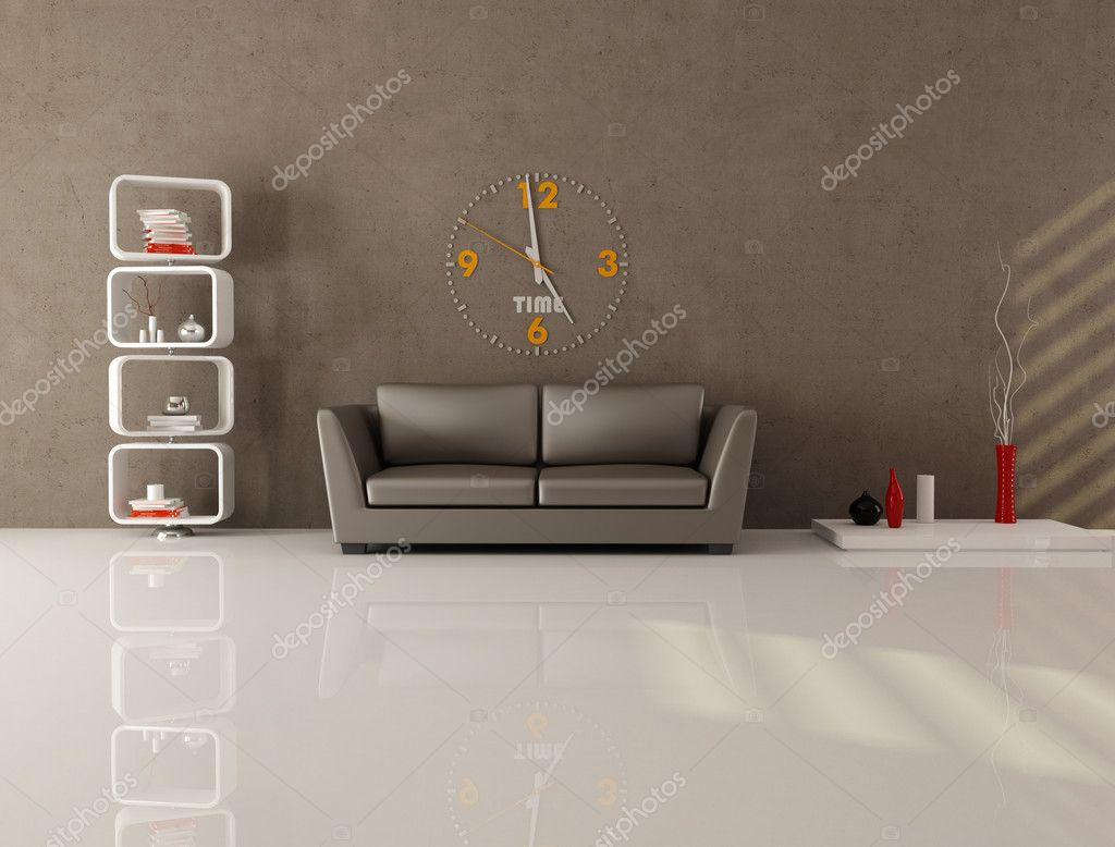 Bruin minimale lounge — Stockfoto © archideaphoto #4903698