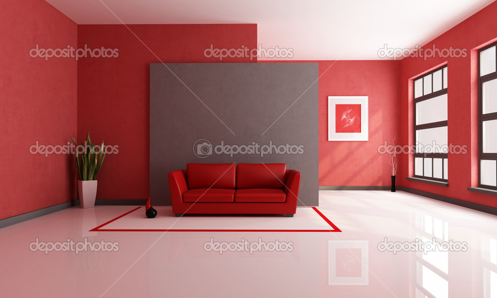 Red And Brown Lounge Stock Photo Archideaphoto 4903989