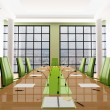 Green meeting room — Stock Photo