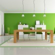 Green dining room — Stock Photo #4918736