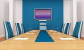 Blue boardroom — Stock Photo