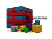 Cube solution — Stock Photo